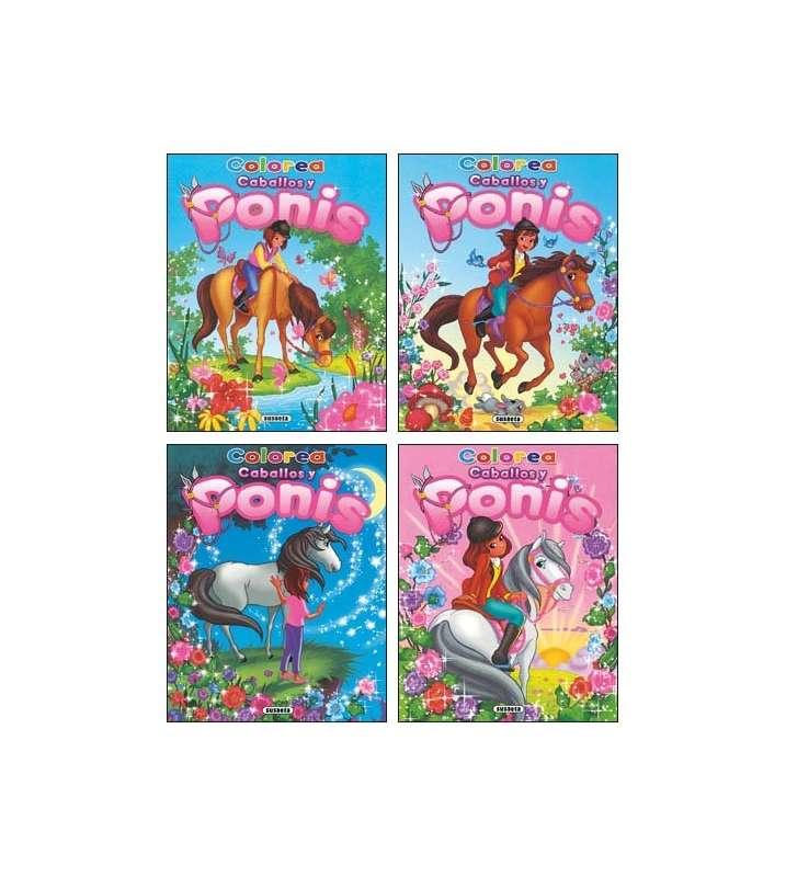 Colorea caballos y ponis (4...