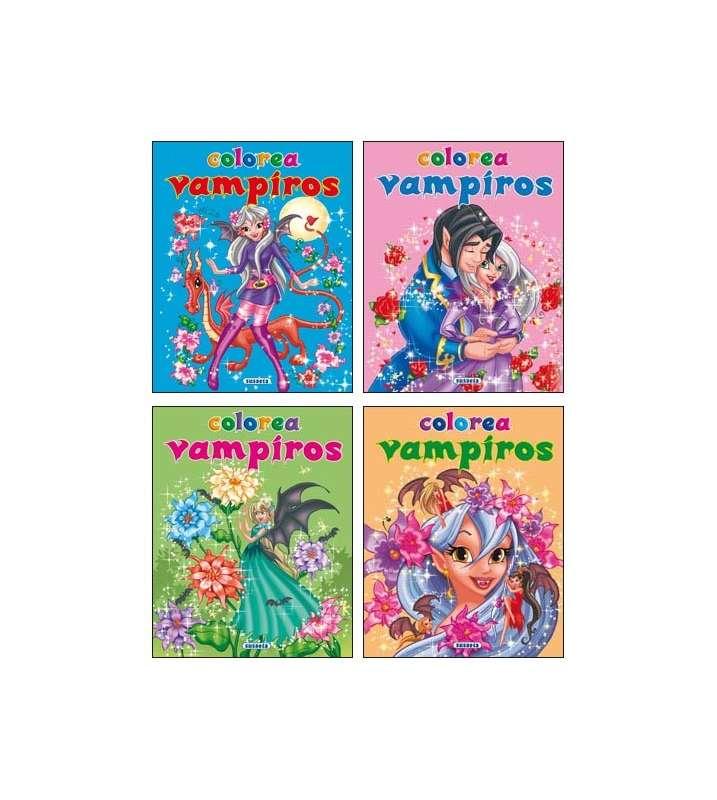 Colorea vampiros (4 títulos)