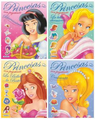 Princesas con pegatinas...