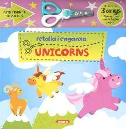 Retalla i enganxa unicorns