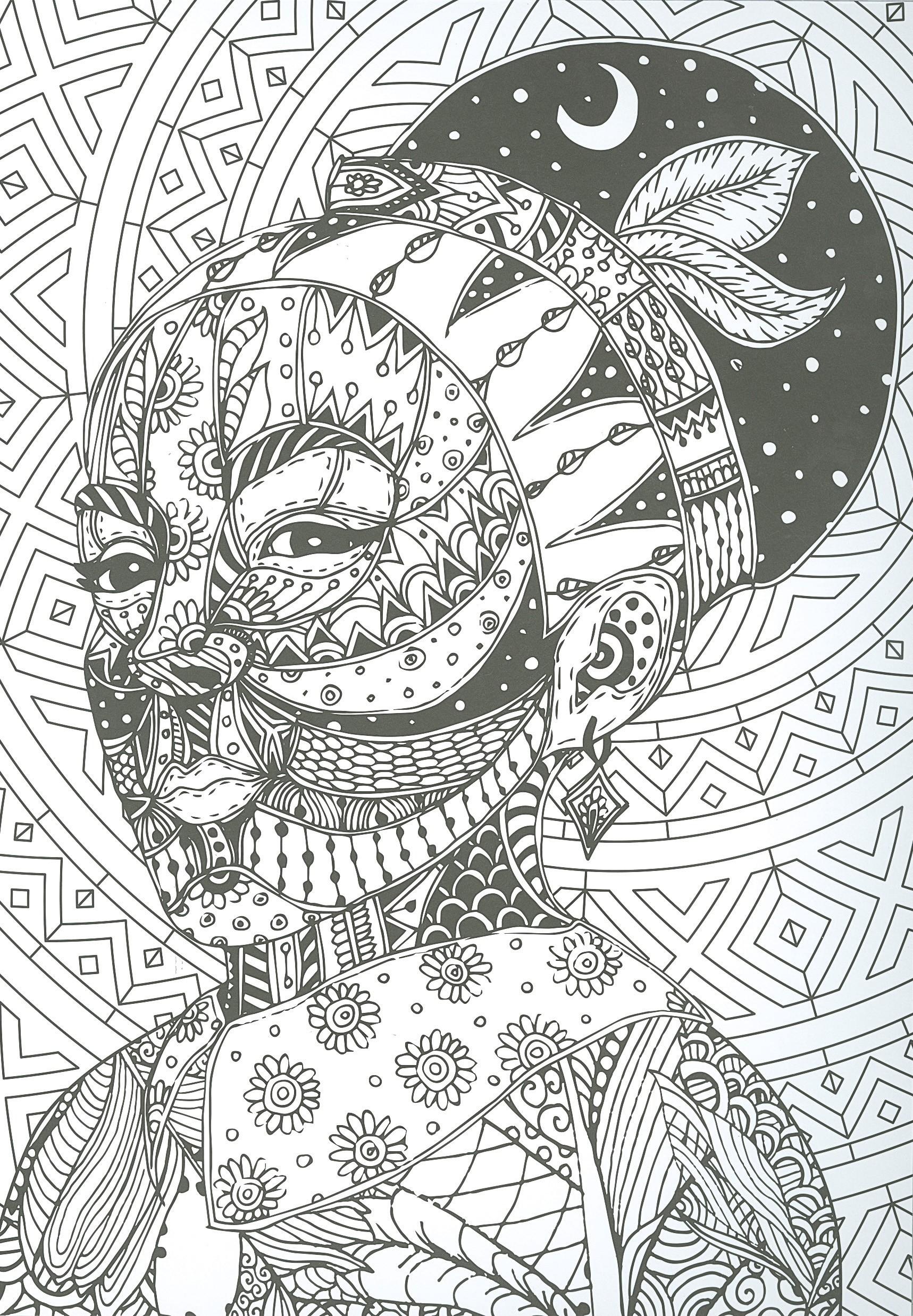 Láminas de arte africano para colorear | Editorial Susaeta