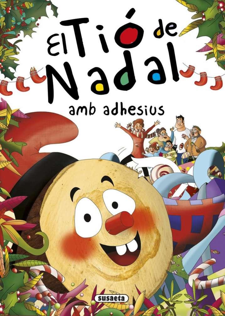 El Tió de Nadal amb adhesius