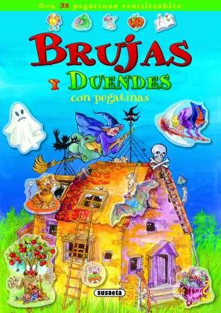 Brujas y duendes con pegatinas