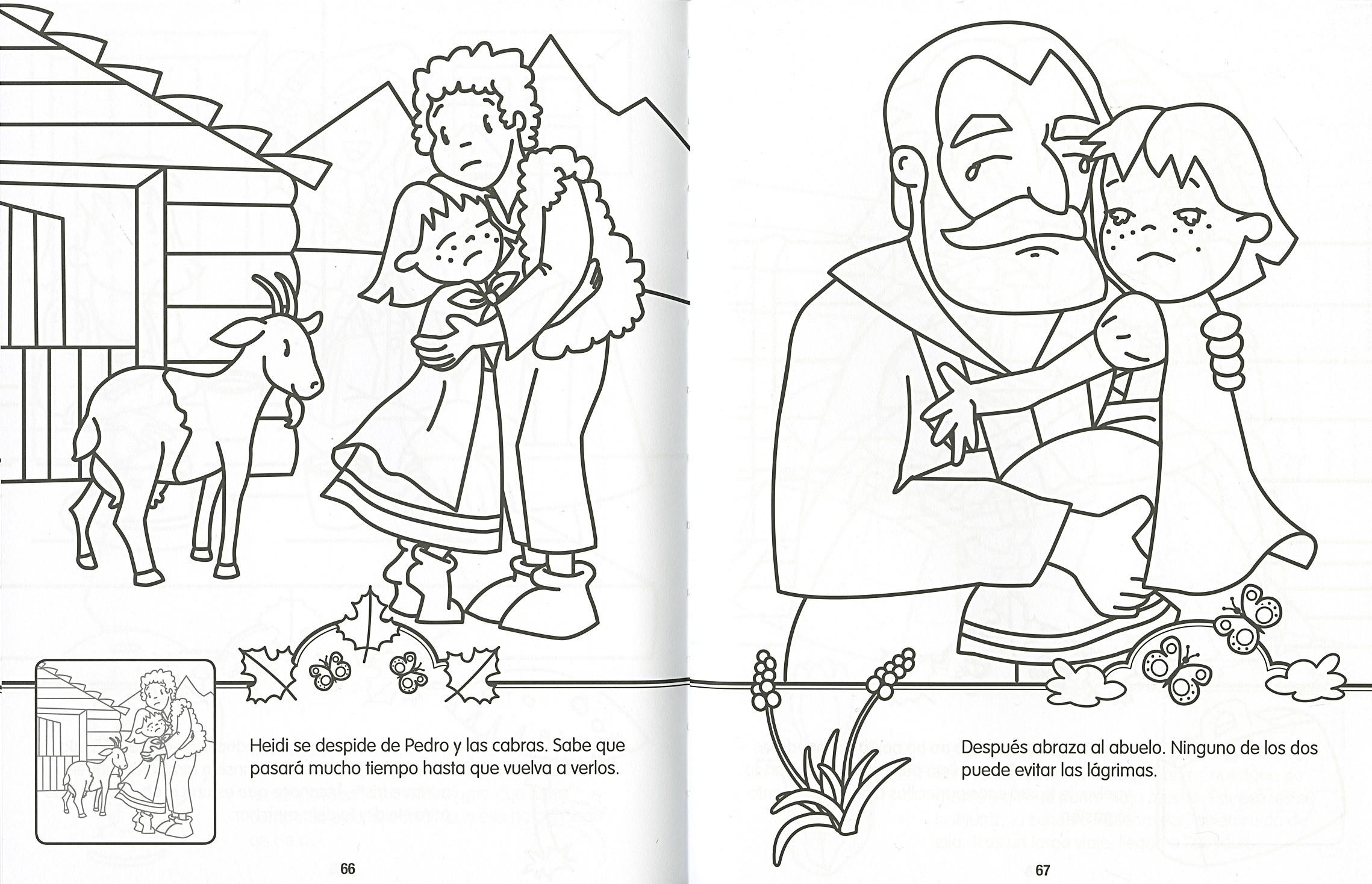 Heidi para colorear y pegar | Editorial Susaeta - Venta de libros ...