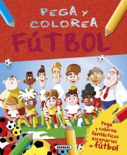 Pega y colorea fútbol