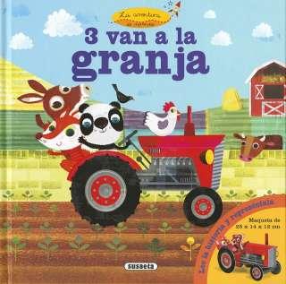 3 van a la granja