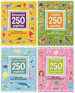 250 pegatinas (4 títulos)