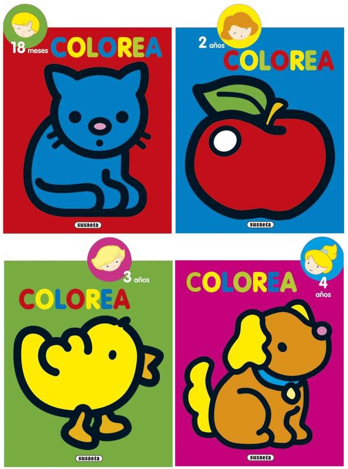 Colorea por edades (4 títulos)